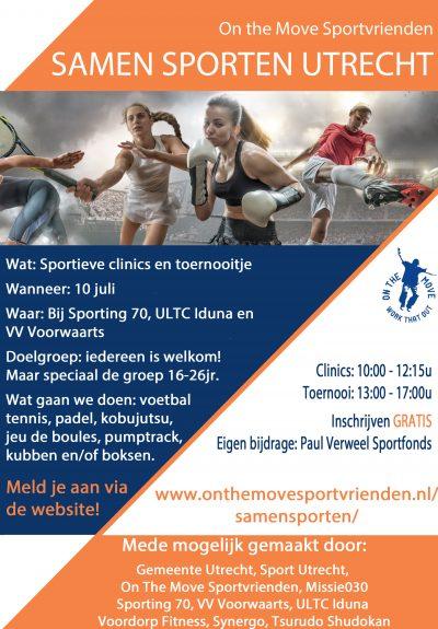 On The Move Sportvrienden_flyer A5 - samensporten_zonder_tikkie